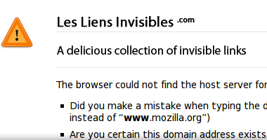A delicious collection of invisible links